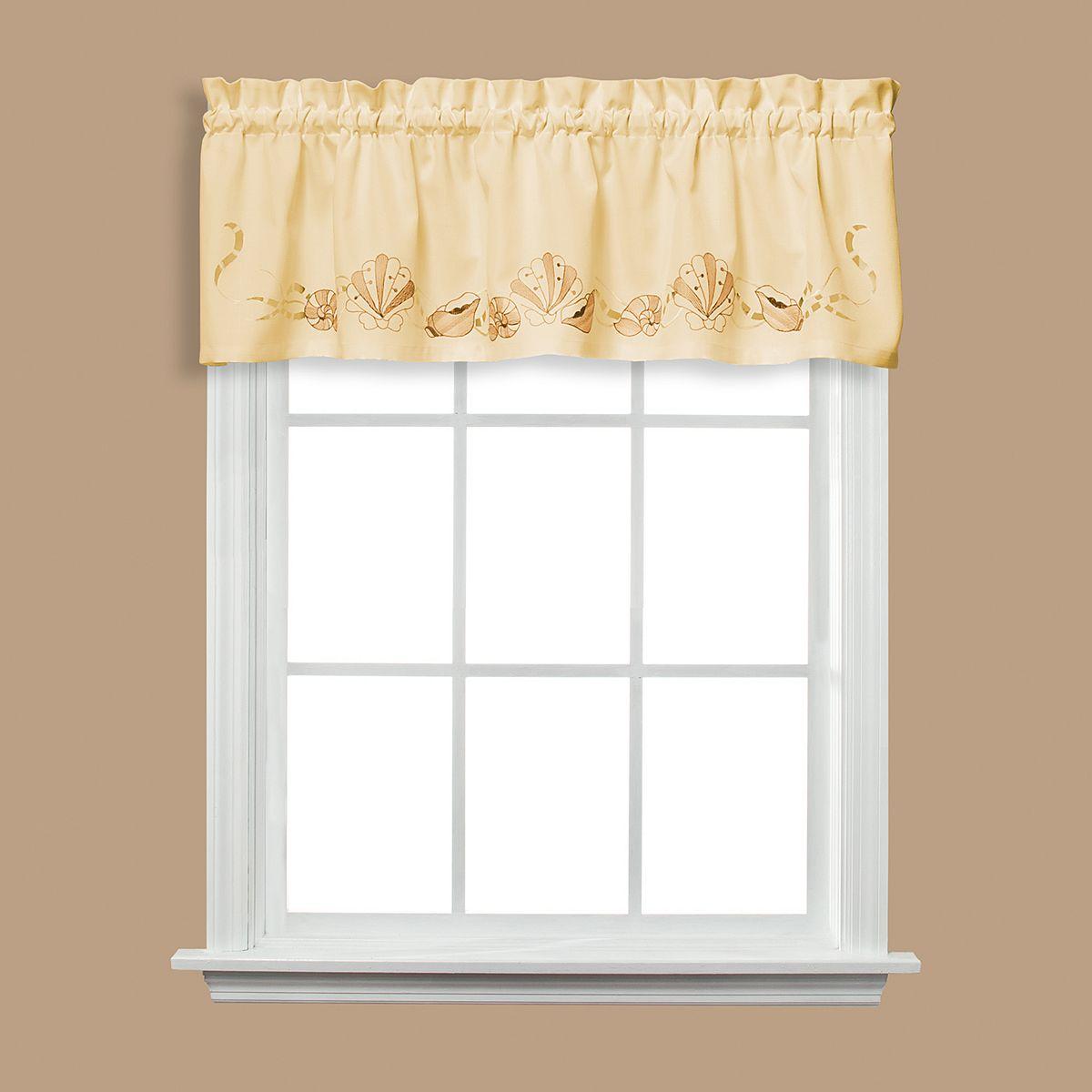 Seabreeze Swag Tier Kitchen Window Curtains L6V35